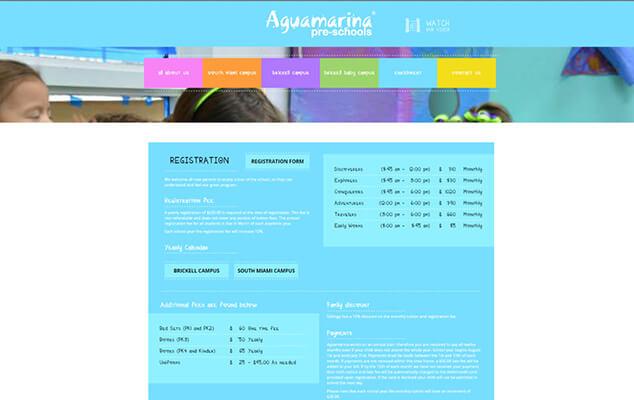 Aguamarina-Preschool-Webdesign