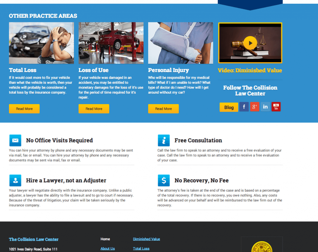 web development for law firm