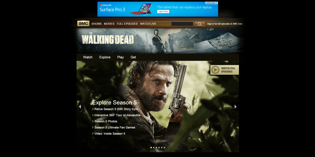 WordPress was used to make the Walking Dead Website
