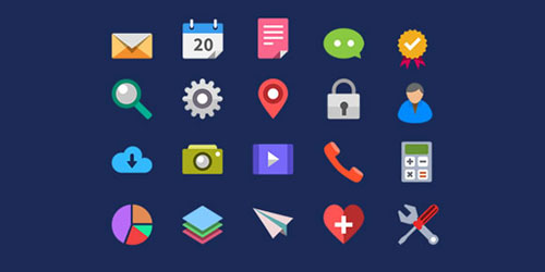 Web Design 20 Flat Icons