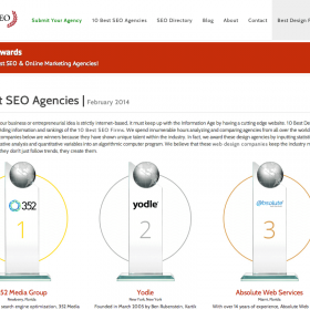Absolute Web Services Ranked Top 3 SEO Company in 2014