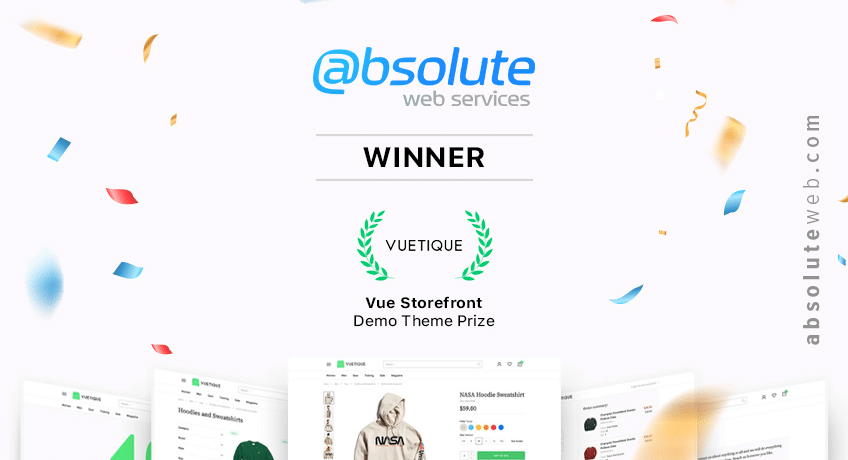 We are nr 1! Absolute Web has won the Vue Storefront