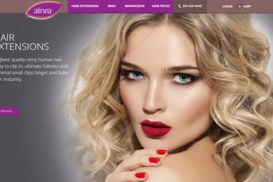 Alinea Hair Homepage