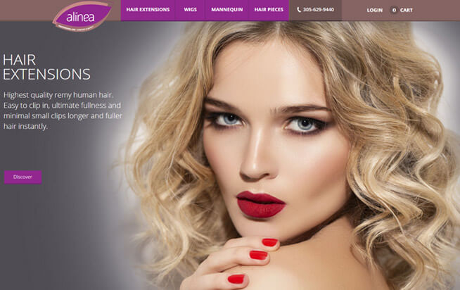 Alinea Hair Homepage