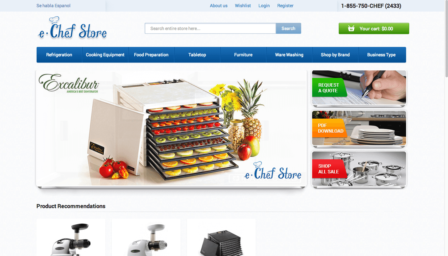An eCommerce Site Built to Impress: eChef Store
