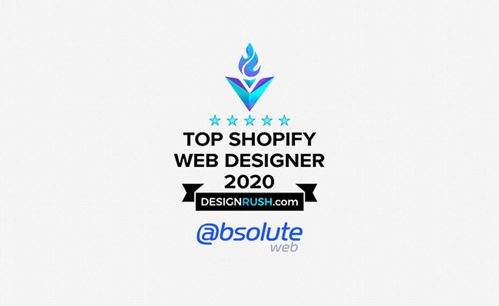 Named Top Shopify Website Designer of 2020