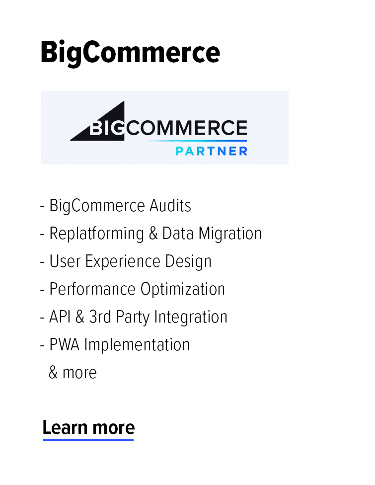 BigCommerce Partner Agency