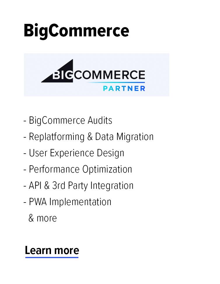 BigCommerce Partner Agency