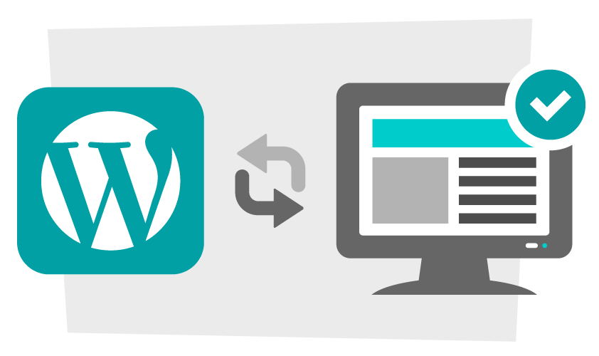 easy to update wordpress