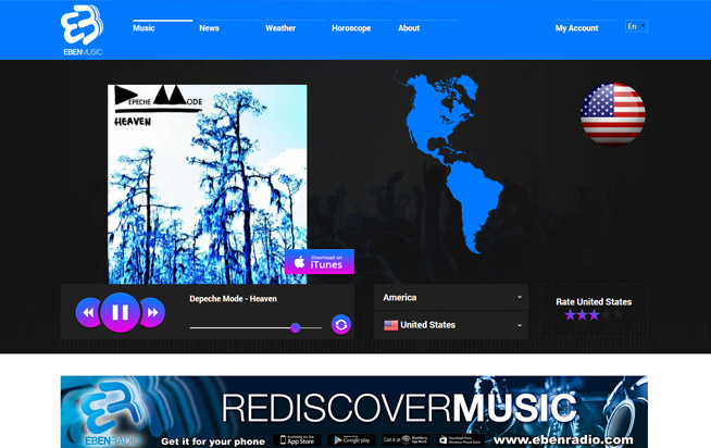 Eben music website design