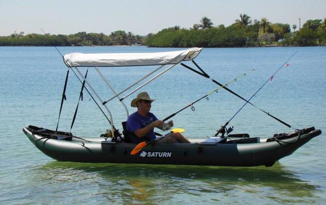 Inflatable fishing kayak saturn FK396