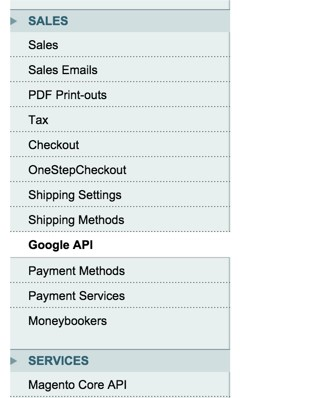 Magento google analytics