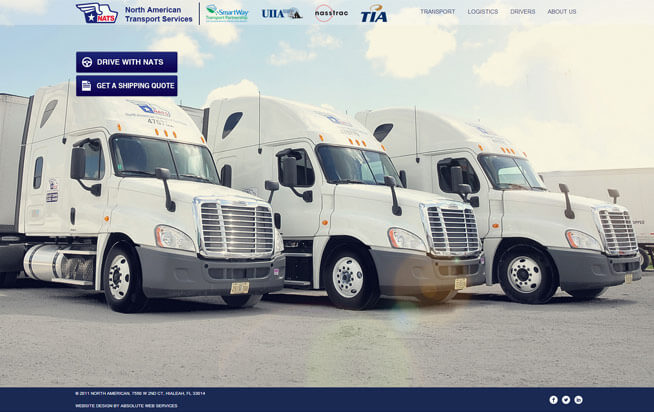North American Transport Services: Miami Transportation Website Design