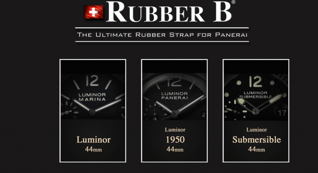 RubberB Creates Custom Watch Straps for Panerai