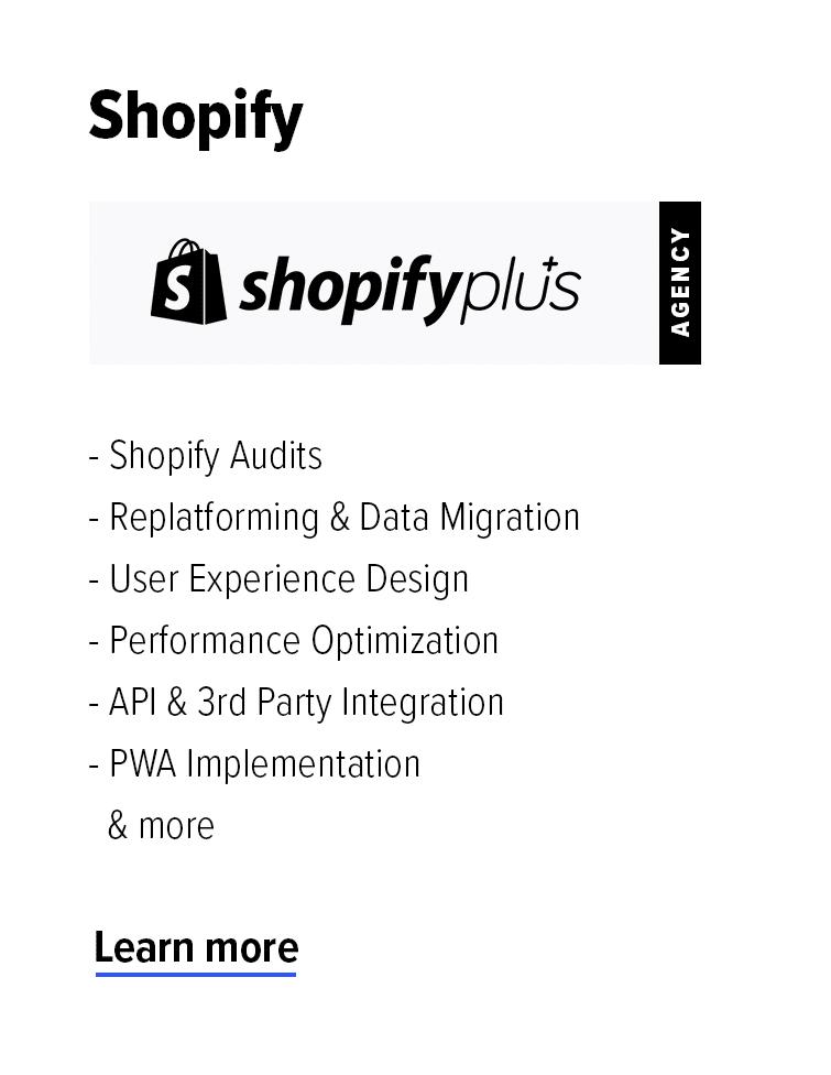 Shopify Plus Agency