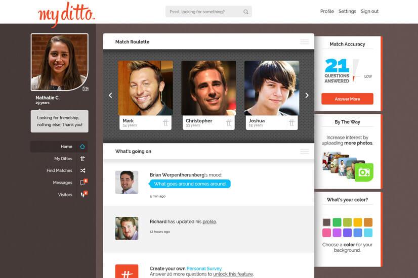 Dating site web development