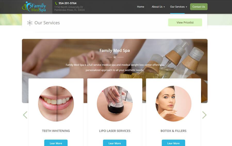 med-spa-website-design