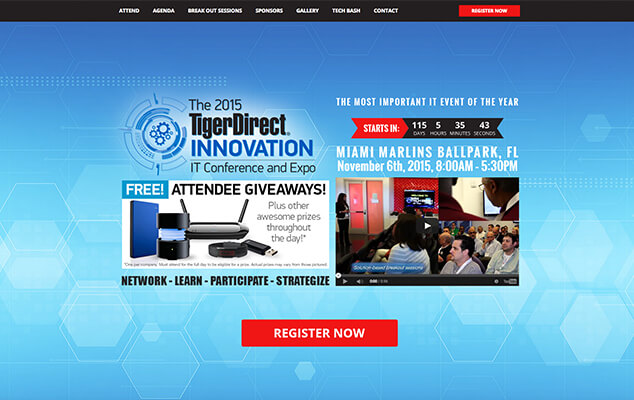 tiger-direct-conference-wordpress-web-design-miami-main